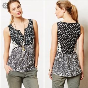 Anthropologie Akemi + Kin native garden floral top